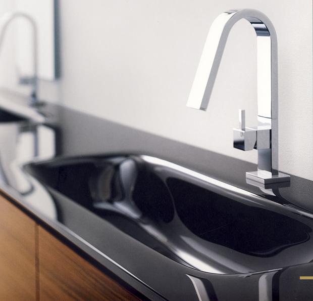 gedanextage hito rubinetto miscelatore rialzato senza salterello per lavabo