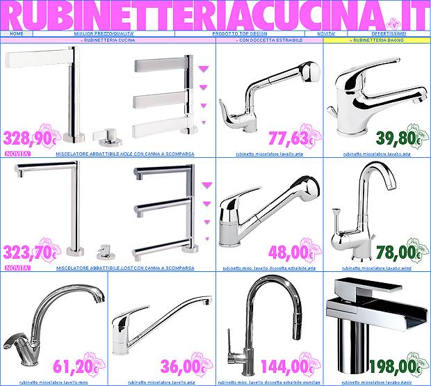 RUBINETTERIA: rubinetti miscelatori, bagno e cucina … una vetrina ...