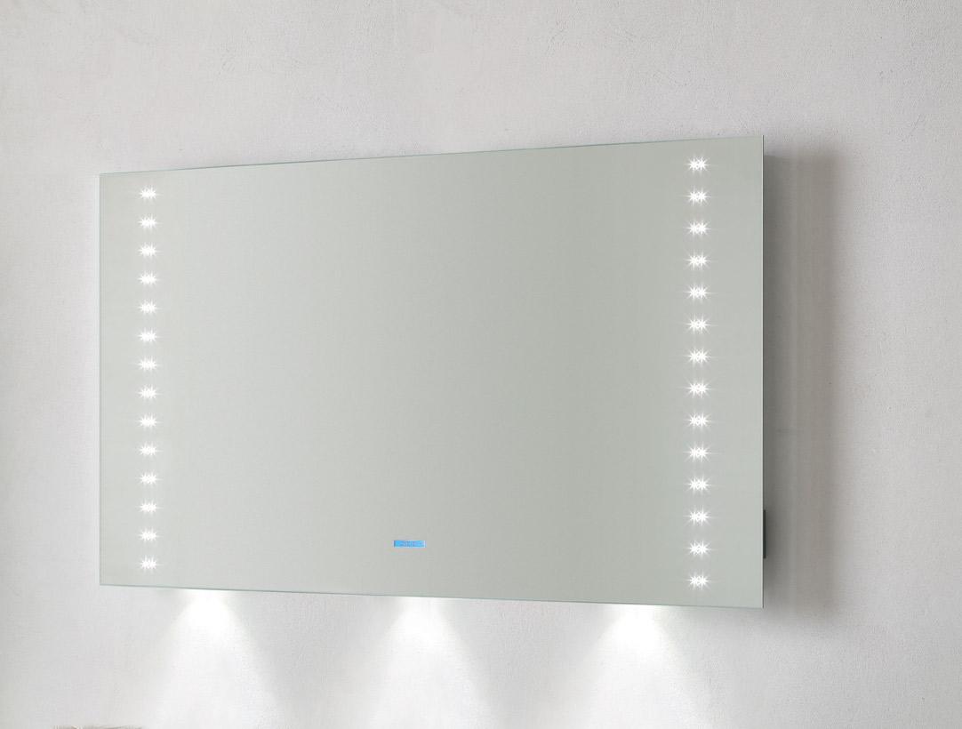 ANDROMEDA la specchiera bagno LED musicale...con Power-Sound System