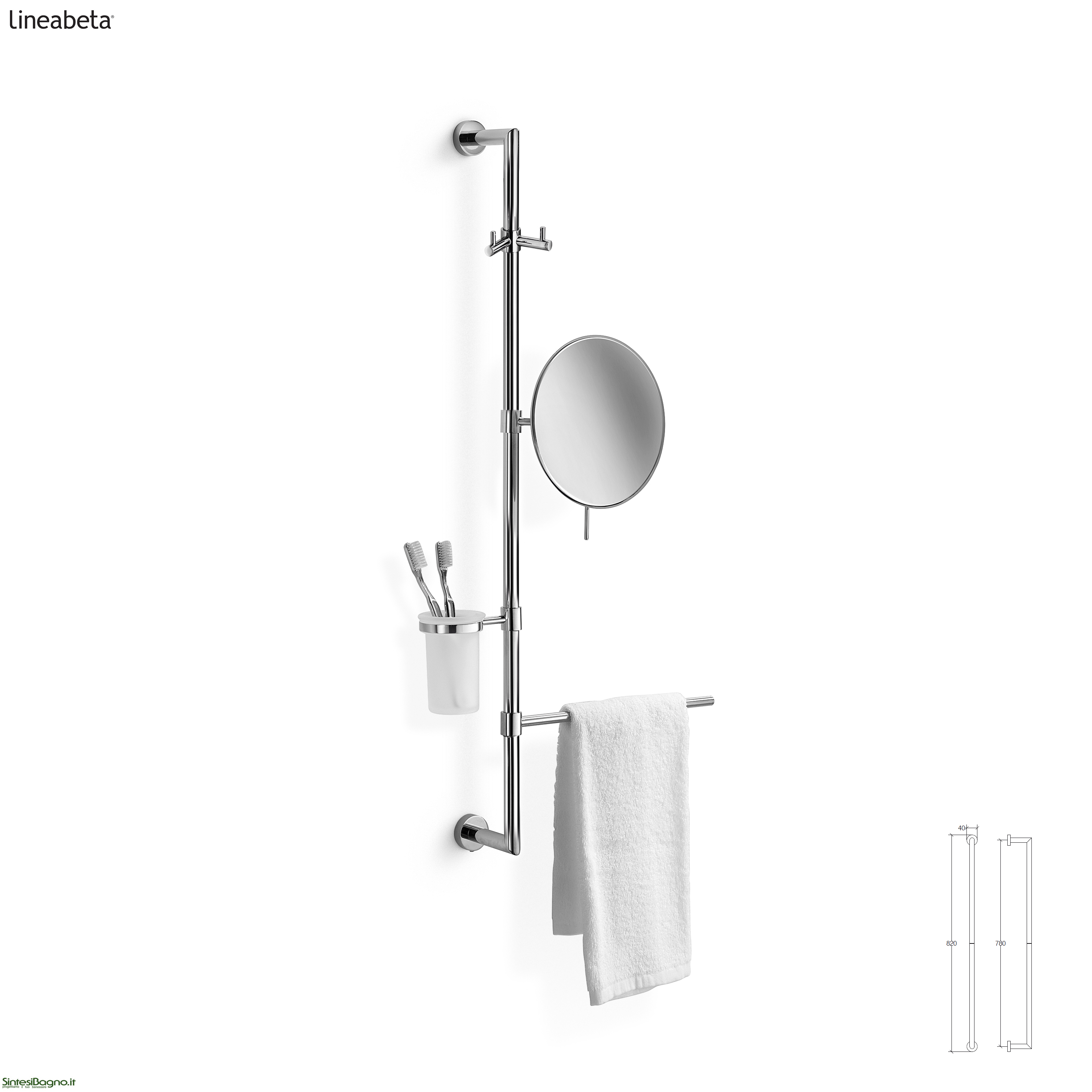 Barre attrezzabili per accessori arredobagno baketo - Accessori bagno padova ...