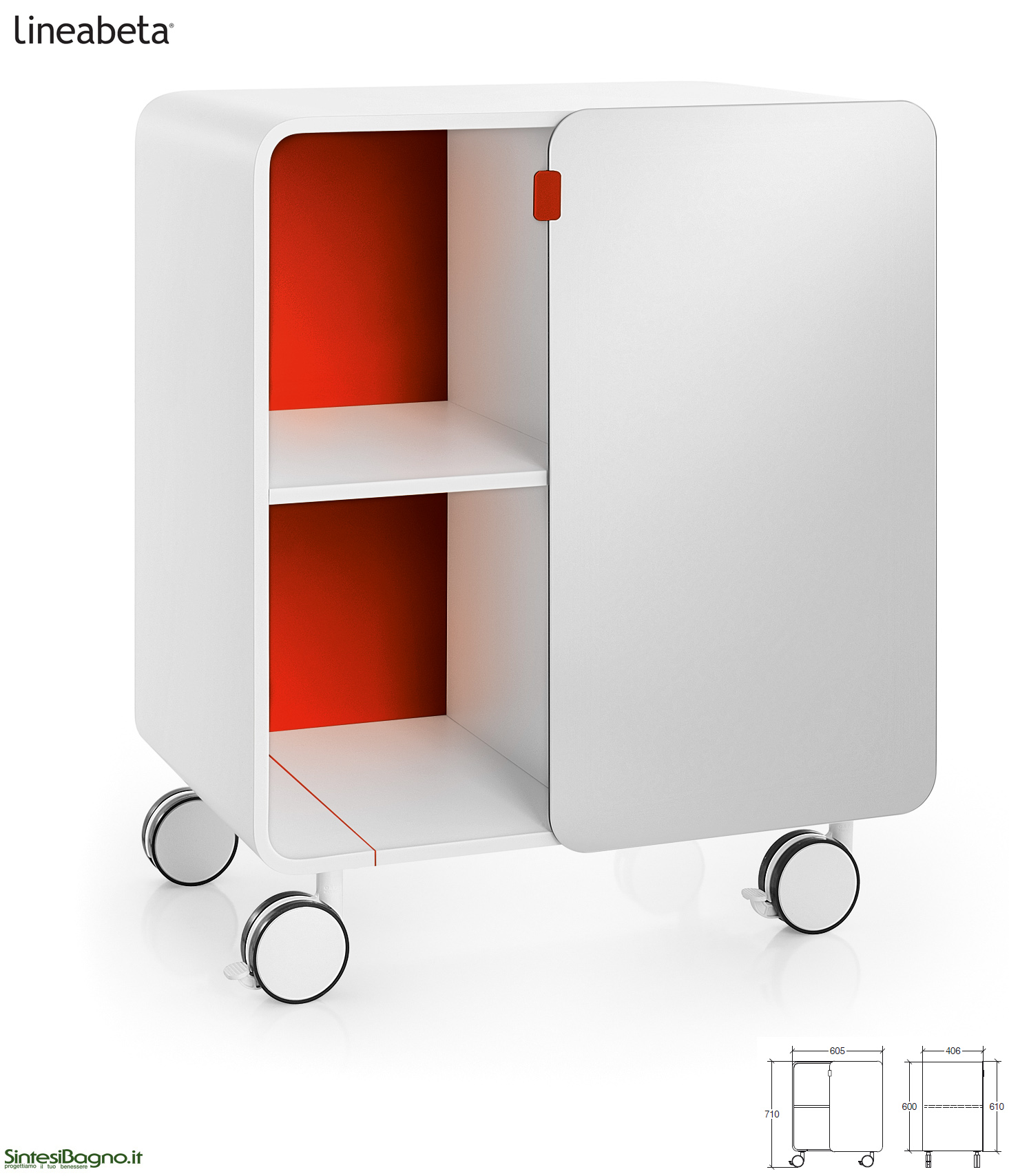 Mobili contenitori bej da lineabeta - Contenitori per bagno ...