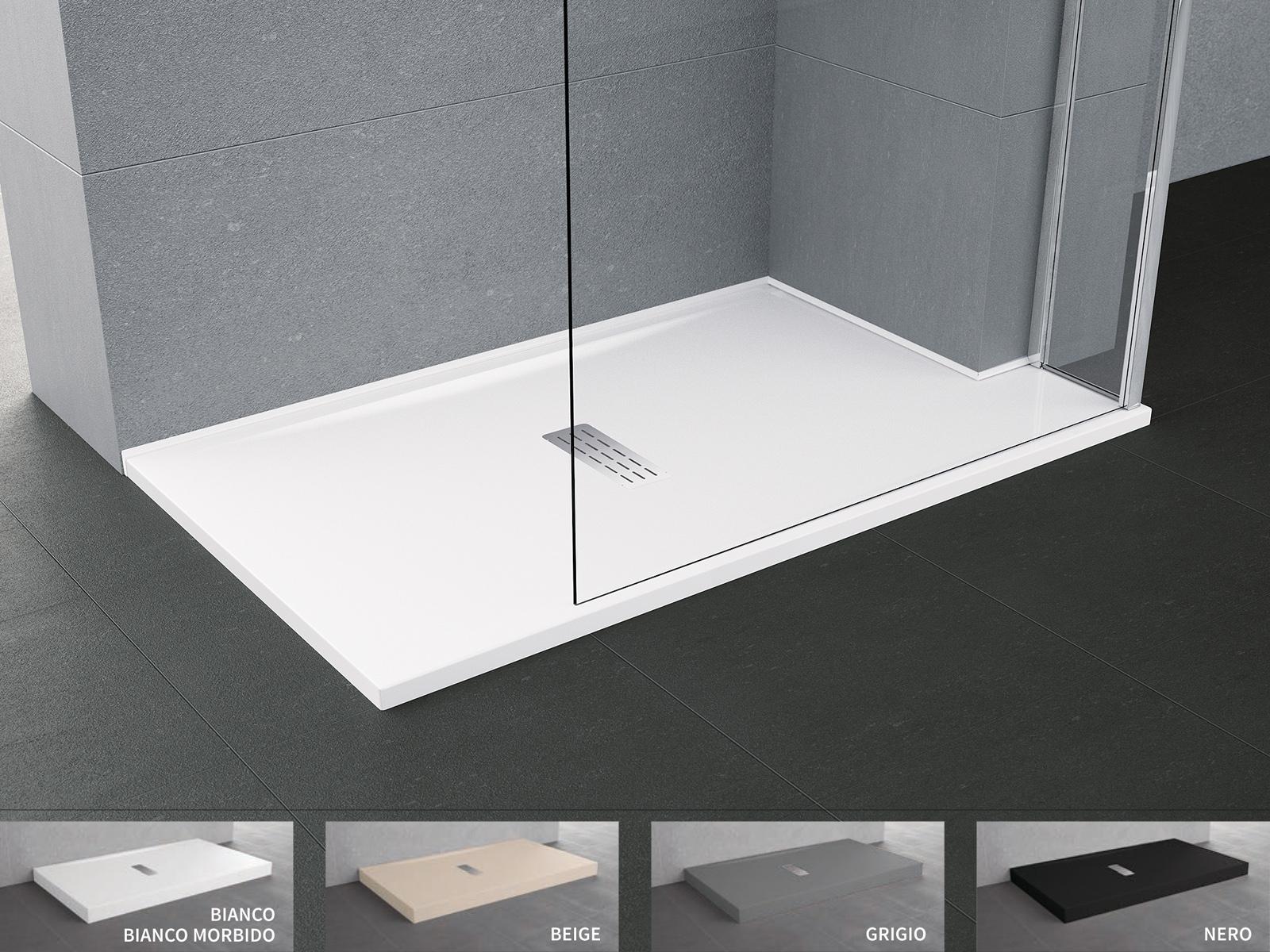 Piatto doccia novellini custom da appoggio filo pavimento sagomabile su misura sintesibagnoblog - Piatto doccia incassato nel pavimento ...