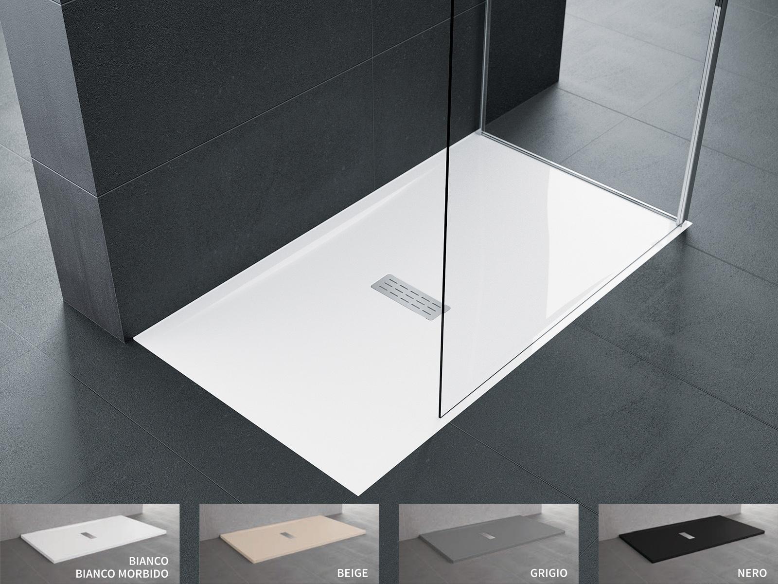 Piatto doccia novellini custom da appoggio filo pavimento sagomabile su misura sintesibagnoblog - Piatto doccia a filo pavimento svantaggi ...