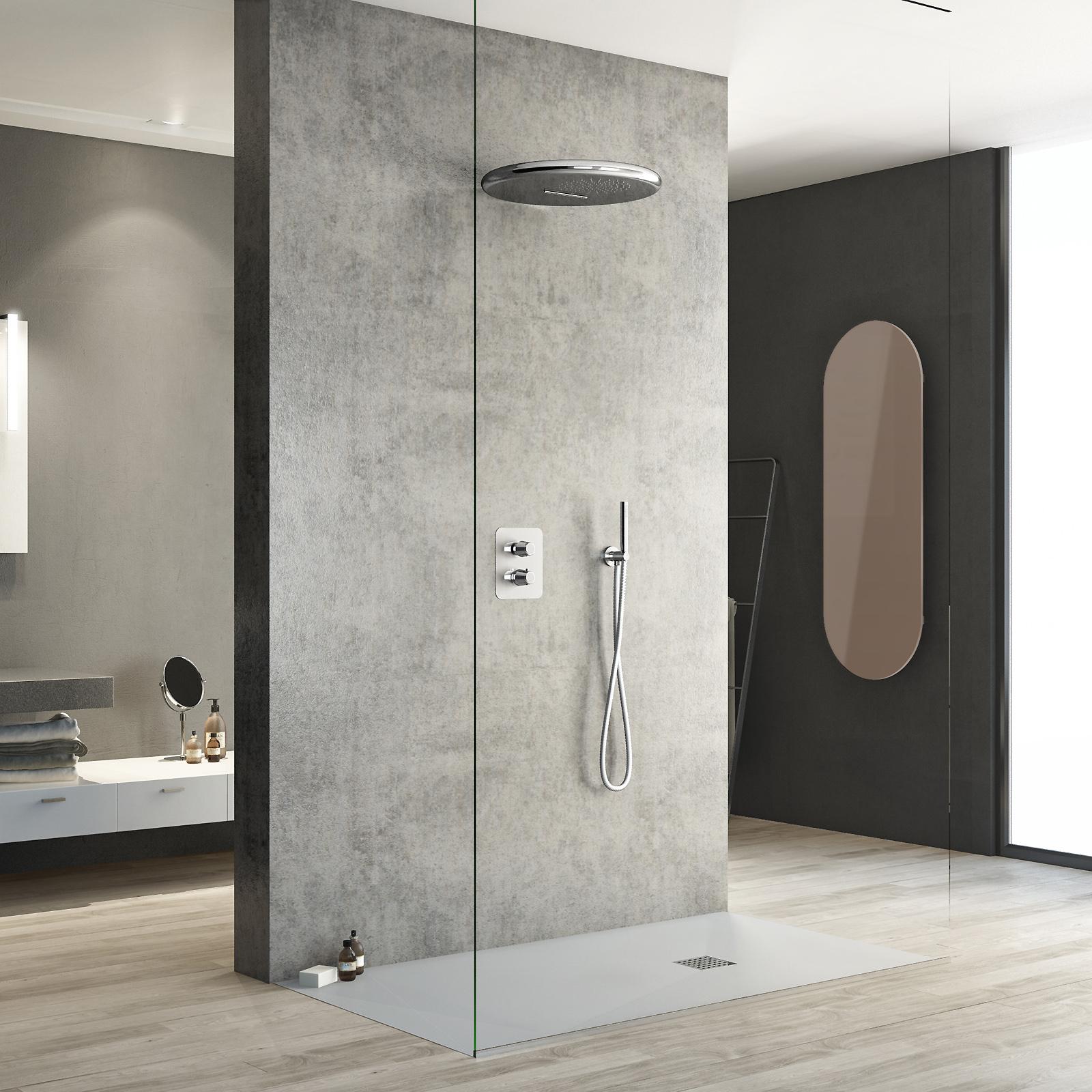 Piastrelle doccia mosaico doccia filo pavimento con - Mosaici per doccia ...