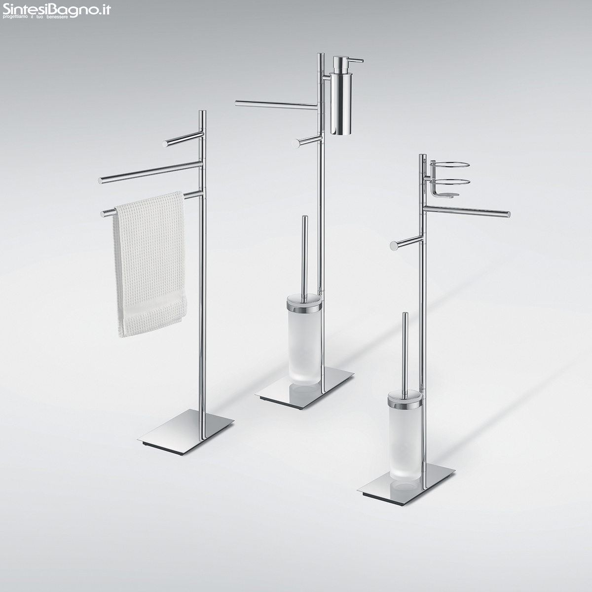Accessori bagno piantane colombo design serie square for Design accessori bagno