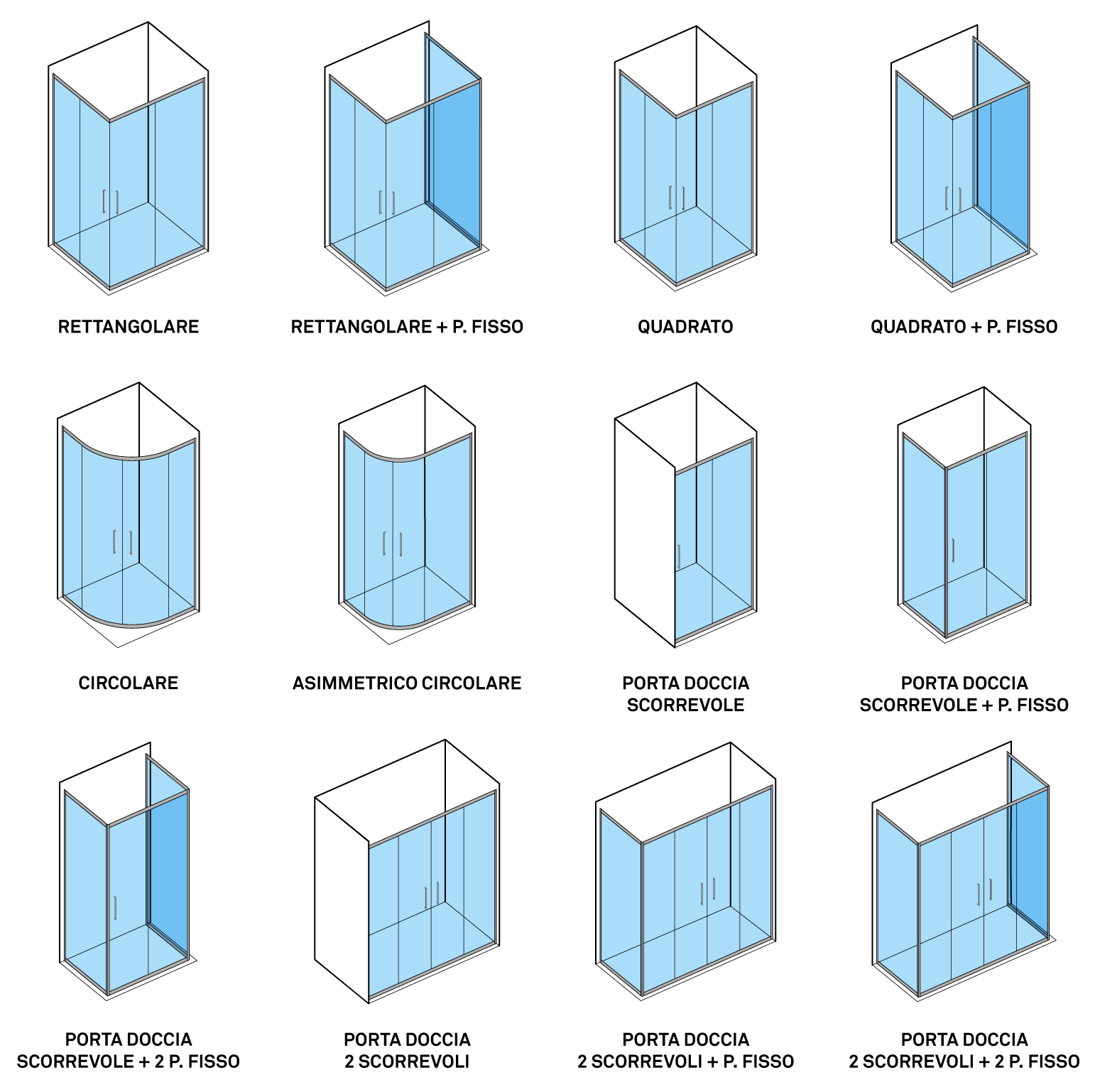 Configurazione dei BOX DOCCIA economici HERA DocciaViva