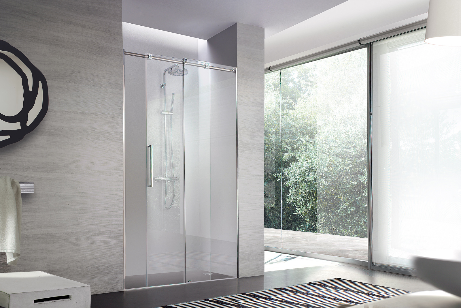 look il box doccia con telaio in acciaio inox - sintesibagnoblog - Bagni Moderni Con Box Doccia