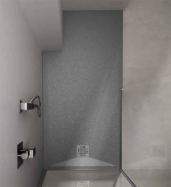 Piatto doccia CUPIDO rettangolare finitura CEMENTO