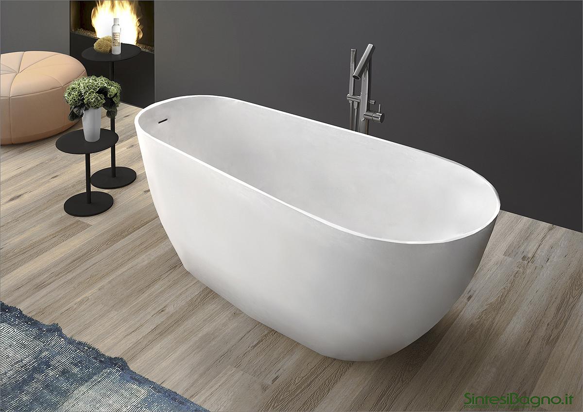 Vasca da bagno in marmoresina PONSI modello BETA