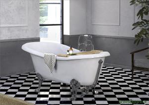 Vasca da bagno in marmoresina PONSI modello LAMBDA